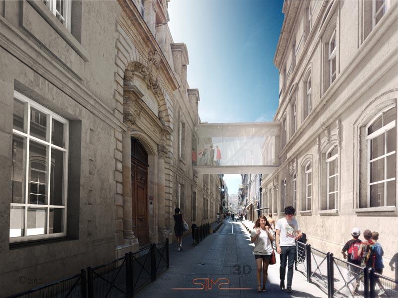 Coll ge cheverus passerelle rue bordeaux pour blp for 3 rue lafaurie de monbadon 33000 bordeaux